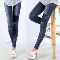 1PCS/LOT Fashion Women's Jeggings Stretch Skinny Leggings Leg wear Pencil Pants Casual Jeans Free Shipping 7161