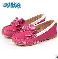 Size27-34,4 colors girl's genuine leather shoes,baby shoes,children footwear,free shipping