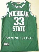 free shipping Michigan State Spartans #33 Magic Johnson basketball jersey