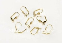Brass Leverback earrings,Pierced earrings with lever back closure and loop, LB-009G