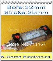 32mm Bore 25mm Stroke SC32-25 SC Series Single Rod Standard Pneumatic Air Cylinder SC32X25