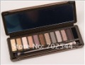NEW latest beauty products  Naked colors 12color eyeshadow  plate  + Lip Gloss (1pcs/lot)  Free shipping