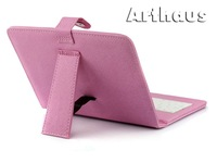 "Pink Leather Case with USB Interface Keyboard for 8"" MID Tablet PC"