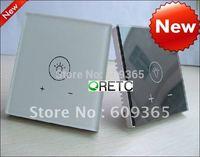 China Hilti EU Standard 1 key intelligent Touch Dimmer switch, touch switch+ dimmer switch with LED indicator,CE/IEC Approved