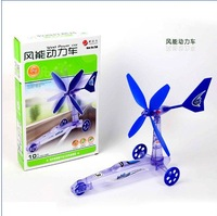 DIY Top Toys 2012 Wind Power Cars Puzzle Toy Green Science Education for Children Drop Shipping Free Shipping
