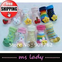 baby socks infant feet wear wholesale price 20 pairs/lot multi-style cute socks Free Shipping HK Airmail
