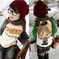 2012 autumn cartoon fight sleeve boys clothing girls clothing baby long-sleeve T-shirt tx-0016