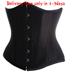 two colors Black /White Goth Underbust Cupless Waist Training Corset Bustier Top S-2XL(China (Mainland))