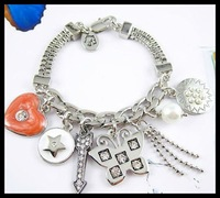 High Quality AAA Fashion Bracelet Fine Jewelry With Sweet Charms Free Shipping Gift Package #JCB019