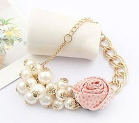 Min order $15 free shipping wholesale Fashion simulated Pearl Rose Tassels Bracelets Bangles jewelry 1136