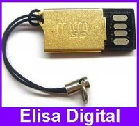 Free shipping wholesale USB 2.0 micro sd card reader,TF card reader,mini sd card adapter,RY026