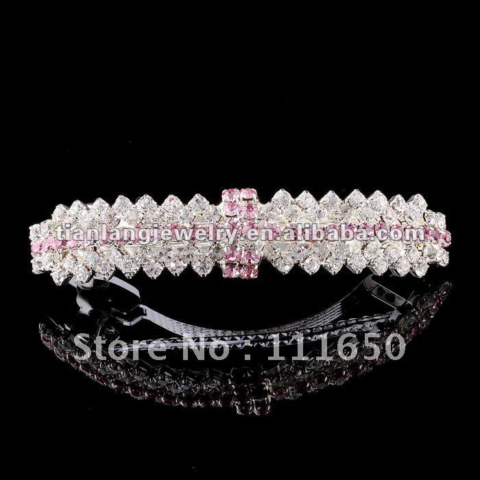 wholesale wedding goody metal rhinestone hair clip crystal clip 12Pcs/Pack(China (Mainland))