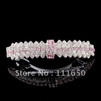 wholesale wedding goody metal rhinestone hair clip crystal clip 12Pcs/Pack