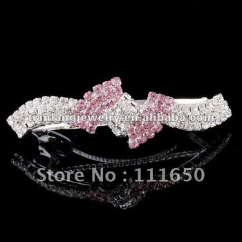 free shipping wedding lovely girls metal rhinestone hair barrette clip 12Pcs/Pack in stock