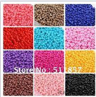 faddish 14 Porcelain beads colors mix 2x2mm Glass Seed beads Jewelry Making (50g/Lot)