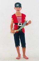 PIRATE MAN Children Halloween Costume New Cosplay custume, costume ball clothing  tank top+pants+hood+belt