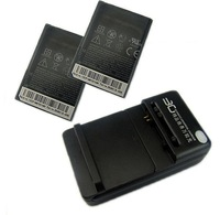2x 1500mah Battery + Charger For HTC HD mini,G9,Aria T5555 T5565 A6380,ARIA A6366,LIBERTY A6380  Free Shipping