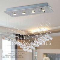 Simple modern crystal lamp restaurant chandeliers bedroom study bedroom lamps lighting