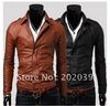 Wholesale - Men's Multi zipper Slim washing PU Leather  motorcycle Jackets Coat Outerwear 1PY12