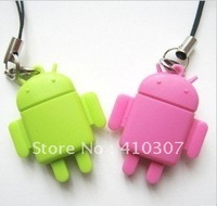 USB Card Reader Cute Android Robot Doll with Mobile Phone Strap Portable Mini High Quality New Arrival Freeshipping 200 pcs