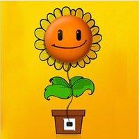 Free Shipping novelty newest design idea high quality DIY cartoon sunflower wall lamp combined wall sticker, MOQ: 1 piece