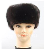 Wholesale/retail man fur hats,Man mink fur hat,men winter fashion genuine mink fur warm fedora hats,free shipping,ID:H22