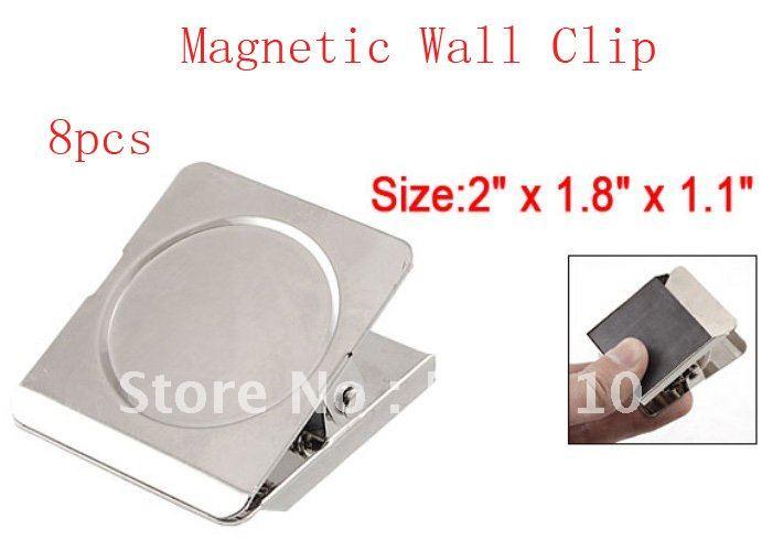 Fridge Clip Magnets Magnetic Clip Silver Tone