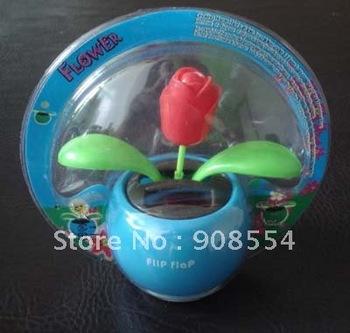 solar dancing    flower  15pcs per lot  Free shipping via China Post Air Mail  no battery no water