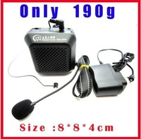 Free shipping!!11W Portable Waistband Voice Booster Mini PA Amplifier Loudspeaker Microphone
