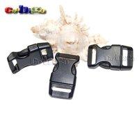 """5/8""""Buckle Contoured Curved For Paracord Bracelet & Dog Harness Plastic Black Backpack Straps Webbing 16mm 100pcs Pack #FLC103-B"""