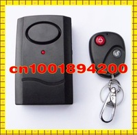 Free Shipping  Wireless Remote Control Vibration Alarm for Door Window Motorcycle Alarm Shock Sensor 10pcs/Lot