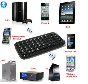 Freeshipping Upgrade edition bluetooth 2.0 wireless mini keyboard, for iphone4,ipad1,2 and etc via HKPAM