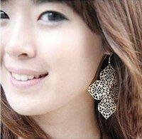 Pierced 4 leaves Earrings cute earring hook earring