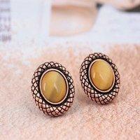Elegant disc gem earrings + free shipping
