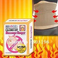 10PCS/Lot Slimming belt, 100% quality guarantee waist Massage Shaper Fat Buster Calories off Free Shipping