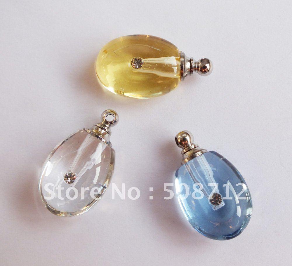 Lágrima grátis frete gota cor misturada frascos de Perfume ampola de cristal pingente cristal pingente de bugiganga(China (Mainland))