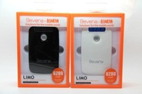 LIMO Charges 2 devices simultaneously 6200mAh battery,portable mobile charger battery, for phone+ipad+iphone