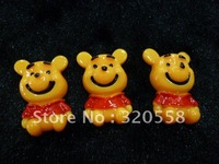 "1"" Smile bear winnie FlatBack Resins Scrapbooking Embellishment 30pcs Free Shipping"