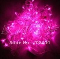 10 m 100 L LED lights LED flash ChuanDeng Christmas lights festival decorative light pink