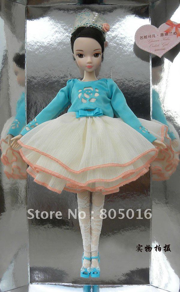 29CM Tall Glamorous Kurhn Fashion Gentle Girl Bobby Doll With Beautiful Dress, Joint Body Model Toy(China (Mainland))