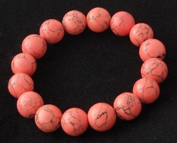 Promotion sale Red Turquoise stone beads fashion stretch bracelet jewelry(China (Mainland))