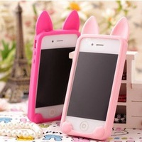 Silicone Case for iPhone 4 4s, Lovely Cute Soft Silicon Koko Cat Case Cover Back for iPhone 4/4S With Retail Package