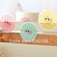 Free Shipping fashion gift cute PVC transparent lace phone/diary dress up sticker 60pcs/lot Wholesale H08