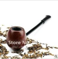 Free Ship round Elegant Vintage Durable Wooden Mens Tobacco Smoking Pipe /  top quality cigar pipe ,5 pcs /lot, wood round pipe