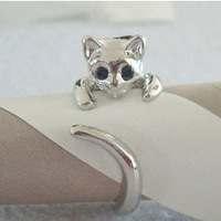 Min order is 20$(Mixed order)The lovely cat  ring Free shipping  Fashion and lovely style