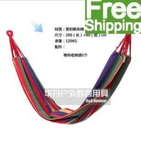 (free shipping CPAM) 3 Pcs/lots 200*80 single canvas hammocks  outdoor camping hammock with 3 colors