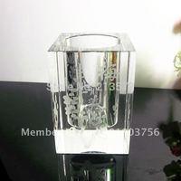 Best selling Free Shipping Crystal Pen Holder Desk Gift logo OEM Design OEM
