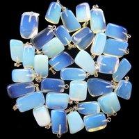 wholesale 10pcs  DZ27 Charming opal opalite tumble pendant bead