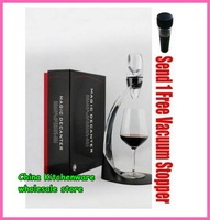 wholesale -Free shipping 1 pc New Quick Magic Decanter Wine Aerator Deluxe Gift Set