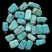 (Min.order 10$ mix) New arrival !wholesale 10pcs Turquoise tumble pendant bead